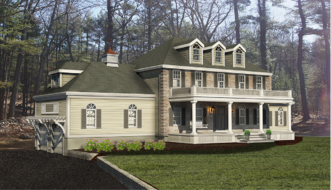 3d Rendering of a whole-house renovation project by Mitchell Construction Group